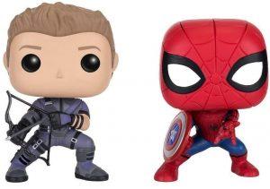 Funko POP de Ojo de Halcón y Spiderman Civil War - Los mejores FUNKO POP de Ojo de Halcón - Funko POP de Marvel Comics - Los mejores FUNKO POP de los Vengadores