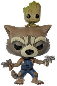 Funko POP de Rocket con Groot - Los mejores FUNKO POP de Rocket Racoon - Los mejores FUNKO POP de Guardianes de la Galaxia - Funko POP de Marvel de los Vengadores