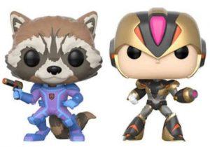 Funko POP de Rocket vs Megaman x - Los mejores FUNKO POP de Rocket Racoon - Los mejores FUNKO POP de Guardianes de la Galaxia - Funko POP de Marvel de los Vengadores