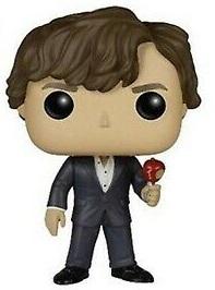 Funko POP de Sherlock Holmes con manzana - Los mejores FUNKO POP de la serie de Sherlock - Funko POP de series de televisión