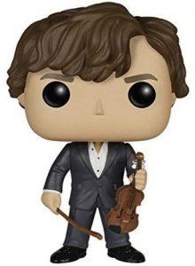 Funko POP de Sherlock Holmes con violín - Los mejores FUNKO POP de la serie de Sherlock - Funko POP de series de televisión