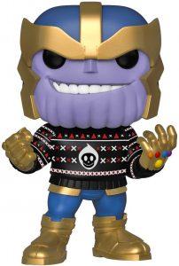 Funko POP de Thanos con jersey navideño - Los mejores FUNKO POP de Thanos - Funko POP de Marvel Comics - Los mejores FUNKO POP de los Vengadores