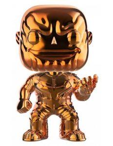 Funko POP de Thanos cromado naranja - Los mejores FUNKO POP de Thanos - Funko POP de Marvel Comics - Los mejores FUNKO POP de los Vengadores