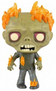 Funko POP de Zombie en llamas - Los mejores FUNKO POP de zombies de The Walking Dead - Funko POP de series de televisión