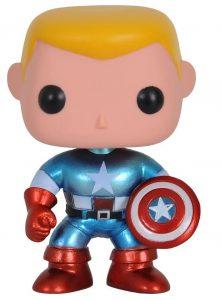 Funko POP del Capitán América clásico sin máscara - Los mejores FUNKO POP del capitán América - Funko POP de Marvel Comics - Los mejores FUNKO POP de los Vengadores