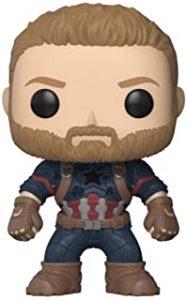 Funko POP del Capitán América con barba - Los mejores FUNKO POP del capitán América - Funko POP de Marvel Comics - Los mejores FUNKO POP de los Vengadores