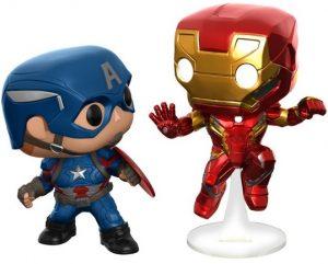 Funko POP de Capitán América vs Iron man - Los mejores FUNKO POP de Civil War - Funko POP de Marvel Comics - Los mejores FUNKO POP de los Vengadores