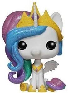 Funko POP de My Little Pony Princesa Celestia glitter con purpurina - Los mejores FUNKO POP de My Little Pony - Mi Pequeño Pony - Los mejores FUNKO POP de series de dibujos animados