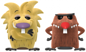 Funko POP de Norbert y Daggett con pelo - The Angry Beavers - Los mejores FUNKO POP de los Castores Cascarrabias - Los mejores FUNKO POP de series de dibujos animados