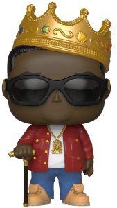 Funko POP de Notorious B.I.G. con corona y chaqueta roja - Los mejores FUNKO POP de Notorious B.I.G. - Los mejores FUNKO POP de raperos - FUNKO POP de música