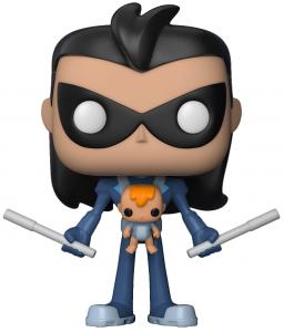 Funko POP de Robin como Nightwing con bebé - Los mejores FUNKO POP de Teen Titans Go - Los mejores FUNKO POP de series de dibujos animados