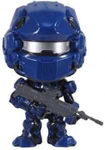 Funko POP de Spartan Warrior en Halo 4 azul - Los mejores FUNKO POP del Halo - Los mejores FUNKO POP de personajes de videojuegos y de series de TV de Netflix