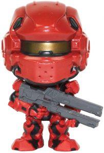 Funko POP de Spartan Warrior en Halo 4 rojo - Los mejores FUNKO POP del Halo - Los mejores FUNKO POP de personajes de videojuegos y de series de TV de Netflix