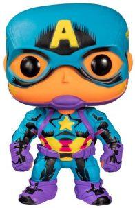 Funko de Capitán América de Pop Marvel Black Light - Los mejores FUNKO POP de Capitán América - Los mejores FUNKO POP de Marvel