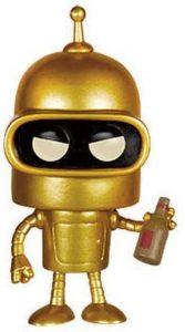 Funko POP de Bender dorado de Futurama - Los mejores FUNKO POP de Futurama - Los mejores FUNKO POP de series de dibujos animados