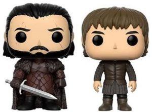 Funko POP de Bran Stark y Jon Nieve - Los mejores FUNKO POP de Juego de Tronos de HBO - Los mejores FUNKO POP de Game of Thrones - Funko POP de series de televisión de Jon Nieve