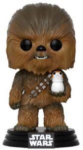 Funko POP de Chewbacca con Porg único - Los mejores FUNKO POP de Chewbacca - Los mejores FUNKO POP de personajes de Star Wars