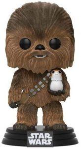 Funko POP de Chewbacca con Porg flocked con pelo - Los mejores FUNKO POP de Chewbacca - Los mejores FUNKO POP de personajes de Star Wars