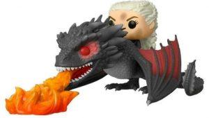 Funko POP de Daenerys Targaryen con fuego sobre Drogon - Los mejores FUNKO POP de Juego de Tronos de HBO - Los mejores FUNKO POP de Game of Thrones - Funko POP de series de televisión