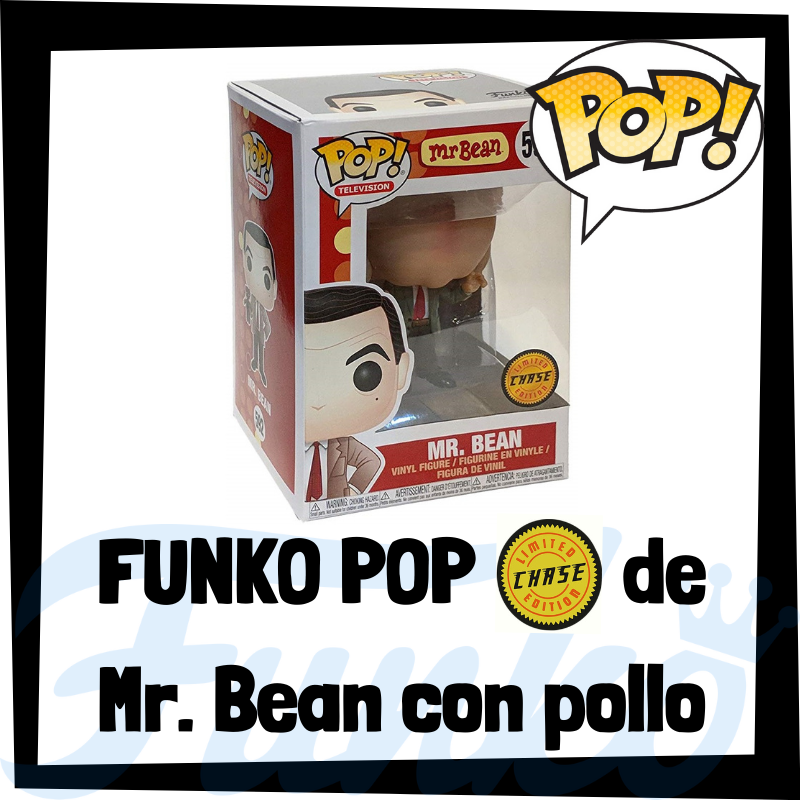 FUNKO POP Chase de Mr. Bean con pollo