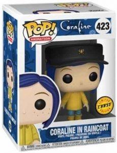Figura FUNKO POP Chase de Coraline con chubasquero 423 - FUNKO POP Chase exclusivos - FUNKO POP únicos difíciles de conseguir