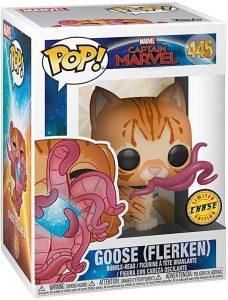 Figura FUNKO POP Chase de Goose de Capitana Marvel - FUNKO POP Chase exclusivos - FUNKO POP únicos difíciles de conseguir