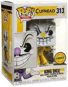 Figura FUNKO POP Chase de King Dice de Cuphead - FUNKO POP Chase exclusivos - FUNKO POP únicos difíciles de conseguir