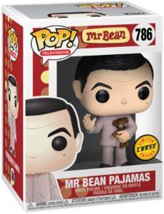 Figura FUNKO POP Chase de Mr. Bean en Pijama - FUNKO POP Chase exclusivos - FUNKO POP únicos difíciles de conseguir