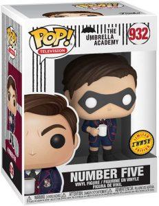Figura FUNKO POP Chase de Número Cinco de The Umbrella Academy 932 - FUNKO POP Chase exclusivos - FUNKO POP únicos difíciles de conseguir