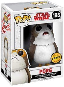 Figura FUNKO POP Chase de Porg de Star Wars 198 - FUNKO POP Chase exclusivos - FUNKO POP únicos difíciles de conseguir