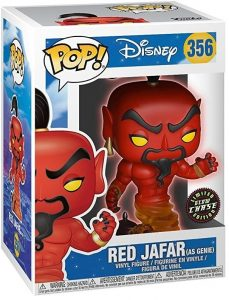 Figura FUNKO POP Chase de Red Jafar de Aladdin Glow in the Dark 356 - FUNKO POP Chase exclusivos - FUNKO POP únicos difíciles de conseguir