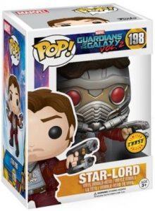 Figura FUNKO POP Chase de Star-Lord 198 de Guardianes de la Galaxia de Marvel - FUNKO POP Chase exclusivos - FUNKO POP únicos difíciles de conseguir