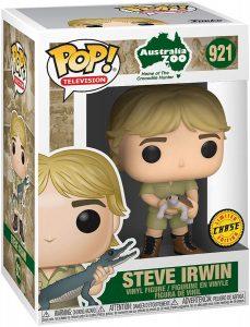 Figura FUNKO POP Chase de Steve Irwin con Tortuga - FUNKO POP Chase exclusivos - FUNKO POP únicos difíciles de conseguir
