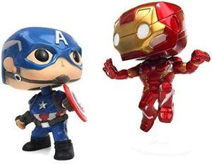 Figura FUNKO POP Moment - FUNKO POP Momentos de Marvel - FUNKO POP de Iron Man vs Capitán América - FUNKO POP Moment exclusivos