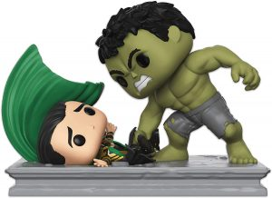 Figura FUNKO POP Moment - FUNKO POP Momentos de Marvel - FUNKO POP de Loki vs Hulk - FUNKO POP Moment exclusivos