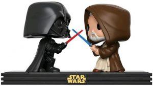 Figura FUNKO POP Moment - FUNKO POP Momentos de Star Wars - FUNKO POP de Darth Vader vs Obi Wan Kenobi - FUNKO POP Moment exclusivos