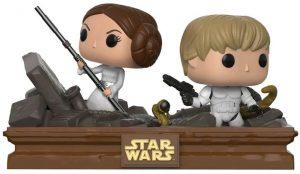 Figura FUNKO POP Moment - FUNKO POP Momentos de Star Wars - FUNKO POP de Luke y Leia en el Compactador de Basura - FUNKO POP Moment exclusivos