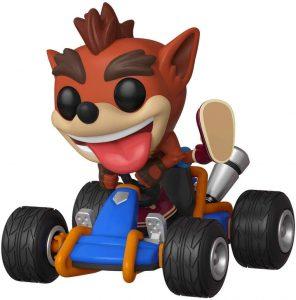 Figura FUNKO POP Rides 64 de Crash Bandicoot en coche de carreras - FUNKO POP Rides exclusivos - FUNKO POP con vehículos