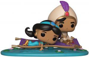 Figura FUNKO POP Rides de Aladdin y Jasmine sobre la Alfombra Voladora de Disney - FUNKO POP Rides exclusivos - FUNKO POP con vehículos