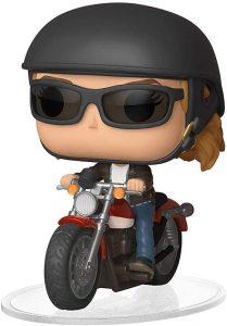 Figura FUNKO POP Rides de Capitana Marvel en moto de Marvel - FUNKO POP Rides exclusivos - FUNKO POP con vehículos