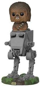 Figura FUNKO POP Rides de Chewbacca en AT-ST de Star Wars - FUNKO POP Rides exclusivos - FUNKO POP con vehículos