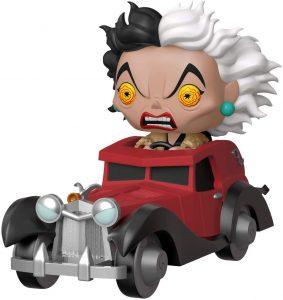 Figura FUNKO POP Rides de Cruella de Vil en coche de Disney - FUNKO POP Rides exclusivos - FUNKO POP con vehículos