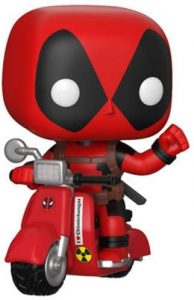 Figura FUNKO POP Rides de Deadpool en moto de Marvel - FUNKO POP Rides exclusivos - FUNKO POP con vehículos