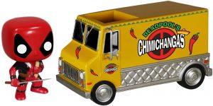 Figura FUNKO POP Rides de Deadpool y camioneta de Chimichangas de Marvel - FUNKO POP Rides exclusivos - FUNKO POP con vehículos