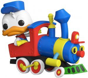 Figura FUNKO POP Rides de Donald sobre tren de Disney - FUNKO POP Rides exclusivos - FUNKO POP con vehículos