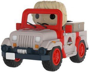 Figura FUNKO POP Rides de Ellie Sattler de coche de Jurassic Park - FUNKO POP Rides exclusivos - FUNKO POP con vehículos