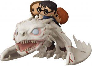 Figura FUNKO POP Rides de Harry, Ron y Hermione sobre Dragon Gringotts de Harry Potter - FUNKO POP Rides exclusivos - FUNKO POP con vehículos