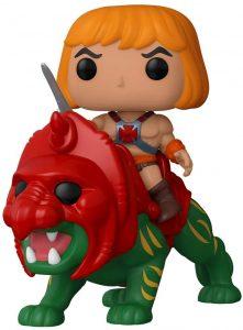 Figura FUNKO POP Rides de He-Man sobre Gato de Batalla de Masters del Universo - FUNKO POP Rides exclusivos - FUNKO POP con vehículos