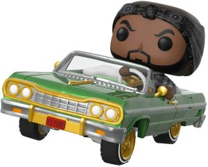 Figura FUNKO POP Rides de Ice Cube sonre Impala - FUNKO POP Rides exclusivos - FUNKO POP con vehículos