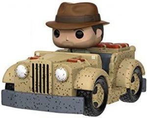 Figura FUNKO POP Rides de Indiana Jones en coche - FUNKO POP Rides exclusivos - FUNKO POP con vehículos